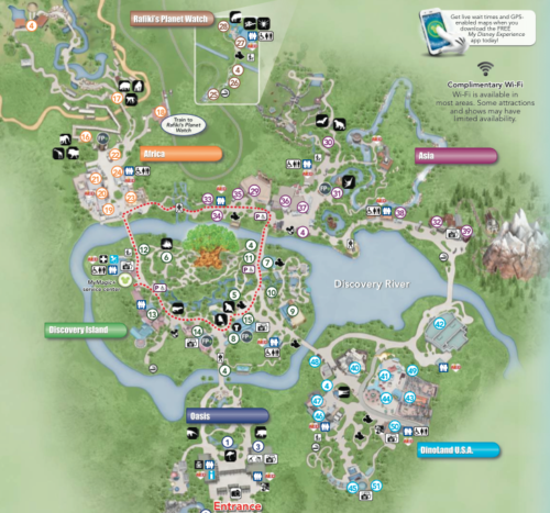 Mapa 2014 de Disney's Animal Kingdom