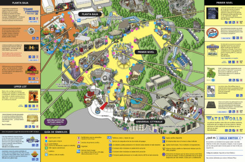 Mapa de Universal Studios Hollywood