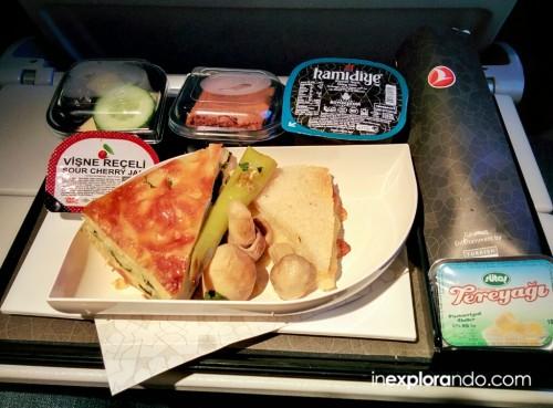 Desayuno a bordo en Turkish Airlines