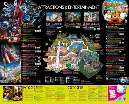 Mapa 2014 de Universal Studios Japan
