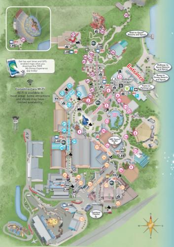 Mapa 2014 de Disney's Hollywood Studios