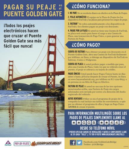 Instrucciones FasTrack del Golden Gate